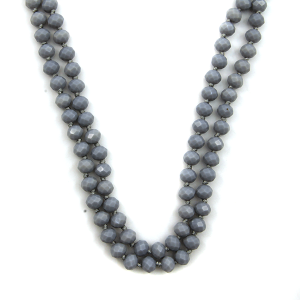 Necklace 1894a 46 Encour 30 60 inch bead necklace gray 469