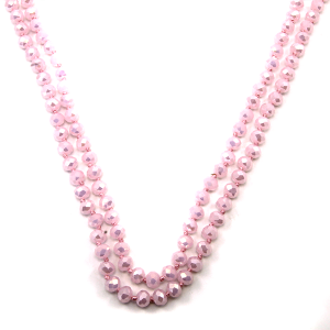 Necklace 1067 46 Encour 30 60 inch bead necklace pink 391