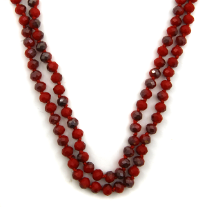 Necklace 1869d 46 Encour 30 60 inch bead necklace red 216