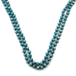 Necklace 1042b 46 Encour 30 60 inch bead necklace turquoise 433