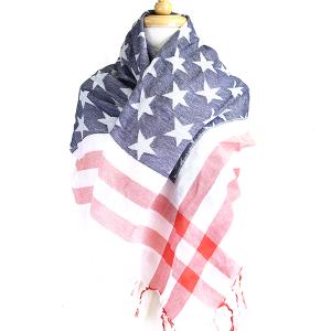 Scarf 591 30 kw american flag scarf usa tassel