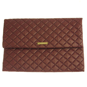 Quilted Nylon Evening Bag - berry