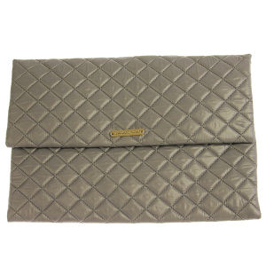 Quilted Nylon Evening Bag - gray
