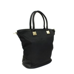 th 500149 nylon handbag black