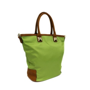 th 500149 nylon handbag green