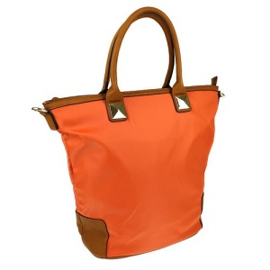 th 500149 nylon handbag orange