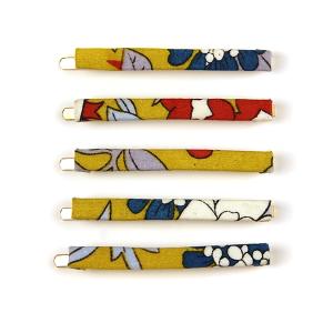 Hair Clip 510 65 Core 5pc hair clip set mustard