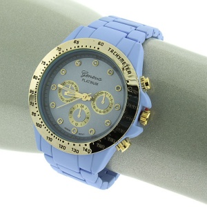 watch 033p 08 round face purple gold 9314
