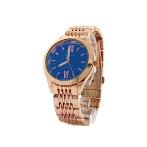 watch 038b 08 2396 round face link blue rose gold