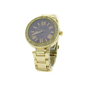 watch 076i 08 4895 round face crystal roman yellow gold
