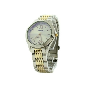 watch 137e 08 2396 round face link gold silver