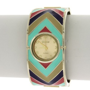 watch 165e 08 bangle chevron multi gold