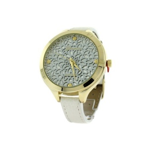 watch 219c 08 9597 round face floral leather white