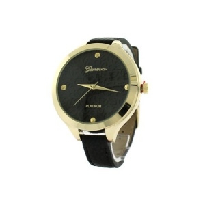 watch 220h 08 9597 round face floral leather black