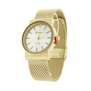 watch 226 08 9378 round steel mesh gold