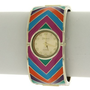 watch 237k 08 bangle chevron multi gold