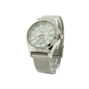 watch 251b 08 9477 round face roman mesh silver