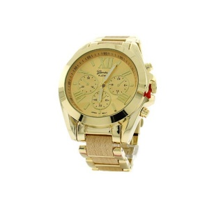 watch 254d 08 9380 round face roman wood gold
