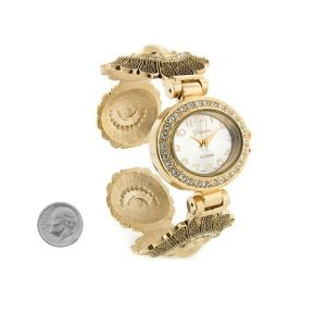 watch 272c 08 cuff oval flower gold