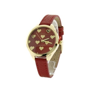 watch 281a 08 9596 round heart thin band red gold