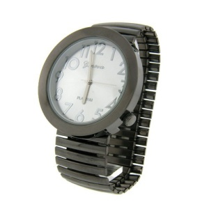 watch 335b 08 wide face watch gunmetal