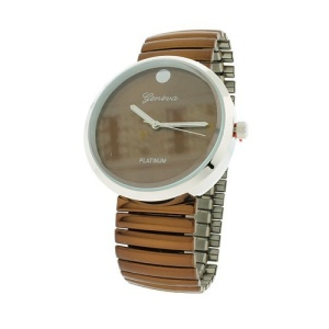 watch 339d 08 2240 round metal band brown silver