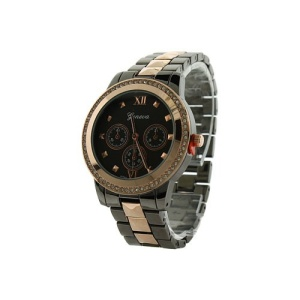 watch 340b 08 4809 round hinge gunmetal rose gold