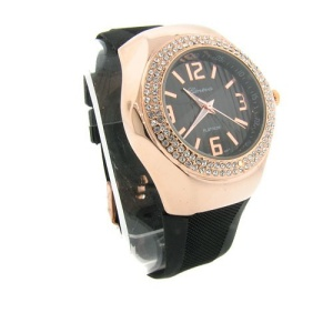 watch 342a 08 lg rubber round bronze black