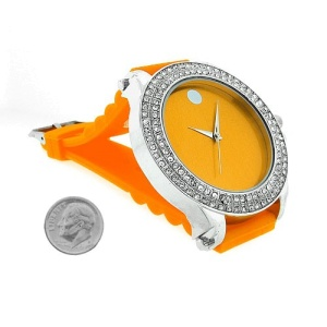 watch 366 08 lg rubber orange