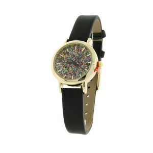 watch 384a 08 9807 glitter thin gold black