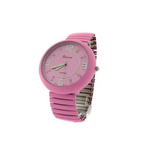 watch 391d 08 stretch band round light pink