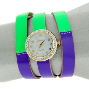 watch 431a 08 wrap around gold neon green purple orange