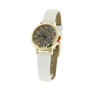 watch 461a 08 9807 glitter thin gold white