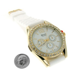 watch 465 08 lg rubber gold white