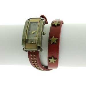 watch 472c 88 wrap around star bead red