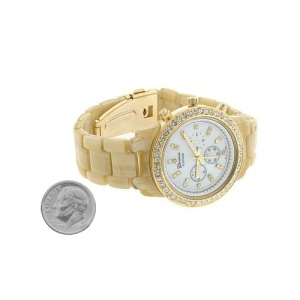 watch 484b 08 band gold off white