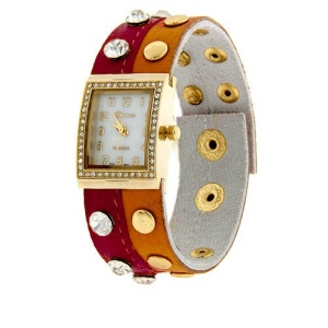 watch 508a 08 wrap around gold orange fuchsia