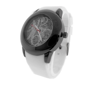 watch 533 08 lg rubber round gunmetal white