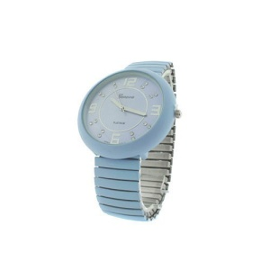 watch 546c 08 stretch band round light blue