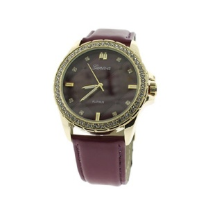 watch 593d 08 quilted crystal face purple