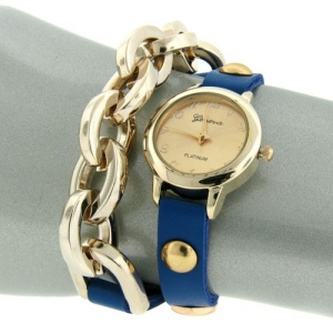 watch 643 08 wrap around chain blue