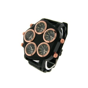 watch 667 08 pentagon world black rose gold