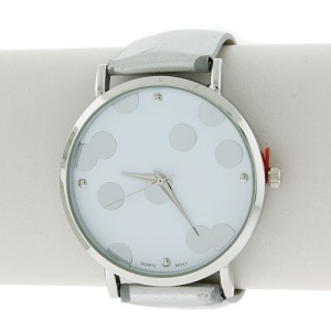 watch 732a 08 9709 polka dot silver