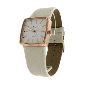 watch 788b 08 square metal rose gold white