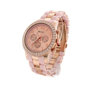 watch 791 08 two tone rubber metal pink rose gold