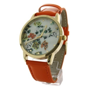 watch 835 08 floral band orange multi