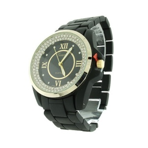 watch 841 08 link metal crystal gold black