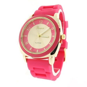 watch 867 08 rubber gold pink