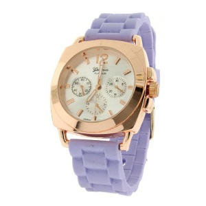 watch 923 08 2999 rubber band rose gold purple