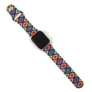 Watch Band 070g 08 Silicon Rubber geometric aztec multi 38mm 40mm